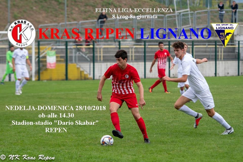 ELITNA LIGA-ECCELLENZA – KRAS REPEN-LIGNANO (8. krog-turno)