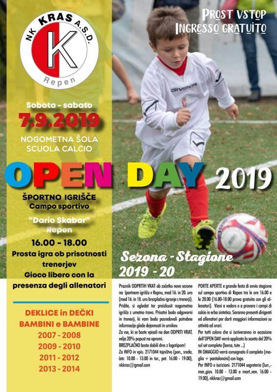 OPEN DAY 2019: RINVIATO-PRELOžENO