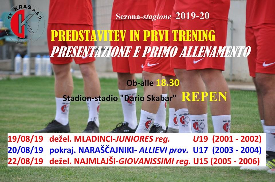 PREDSTAVITEV IN PRVI TRENING-PRESENTAZIONE E PRIMO ALLENAMENTO